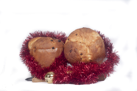 different countries: Panettone baked traditional Christmas fruit from different countries.