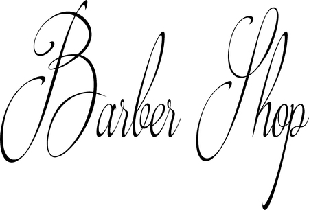 undertaking: barbers shop sign on a White Background. Illustration