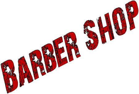 barbers shop sign on a White Background. Illustration