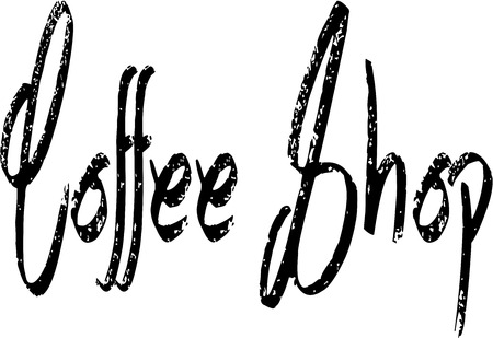 Coffee Shop Sign illustration on an white Background