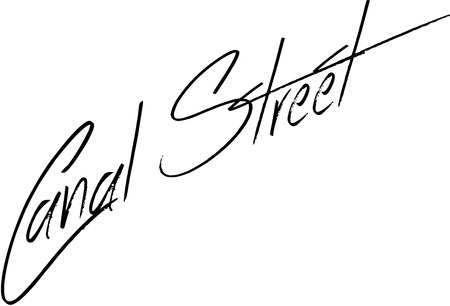bourbon: Canal Street sign on White Background