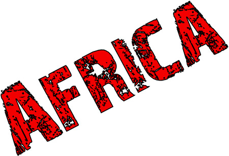 Africa Text Sign illustration on white Background