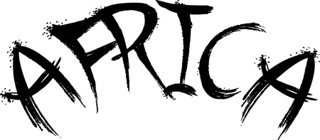 Arfrica Text Sign illustration on white Background Illustration