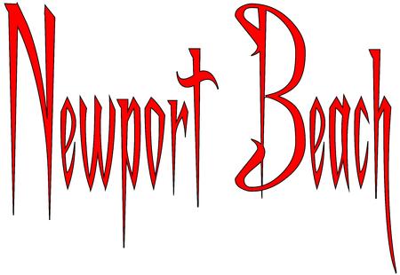 Newport Beach text sign illustration