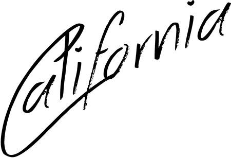 California text sign illustration