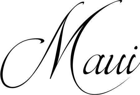 Maui tekensymbool illustratie op een witte achtergrond Stock Illustratie