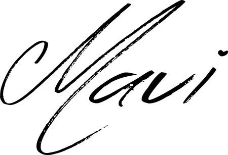 Maui text sign illustration on white background