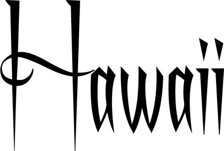 白い背景の上のハワイ本文符号図