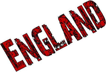 England Text sign illutration on white background