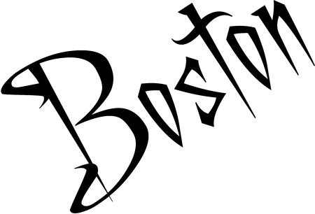 ボストン本文墨書道イラスト白背景にサインインします。