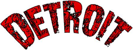 Detroit text sign illustration on white illustration.