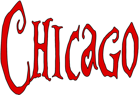 chicago text sign illustration on White background