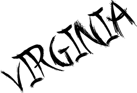 Virginia text sign illustrationon white background