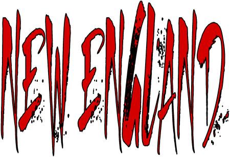 New England text sign illustration on white background