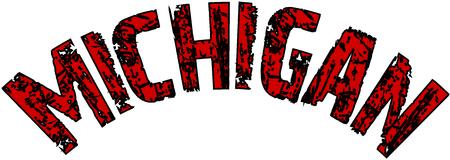 Michigan text sign illustration on White background Illustration