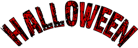 Illustration of Text message Halloween on white background.