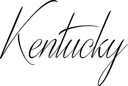 bakground: Kentucky text sign illustration on white bakground