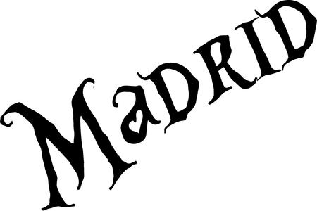 Madrid lettering design