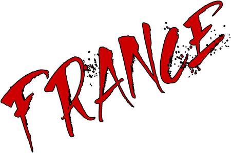 France text sign illustration