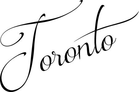 Toronto text sign illustration on white Background