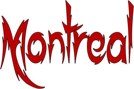 Montreal text sign illustration on white Background