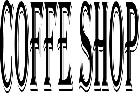 Coffe Shop text sign illustration on white background Illustration