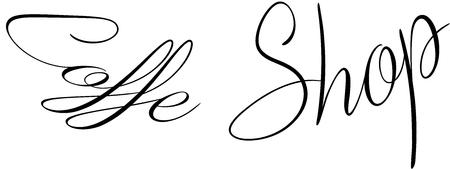 Coffe Shop text sign illustration on white background Illustration