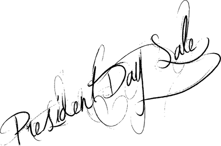 President Day Sale text sign illustration on white background