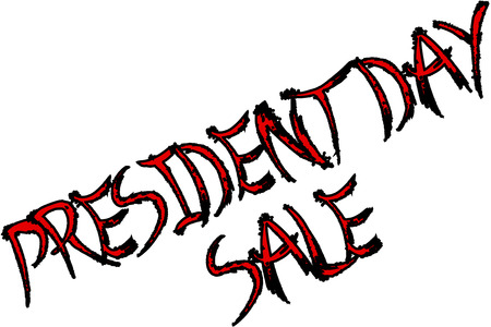 President Day sale text sign illustration on white background. Stock Vector - 100818107