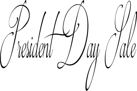 President Day sale text sign illustration on white background.
