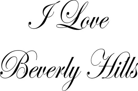 I love Beverly Hills California, text sign illustration on white background