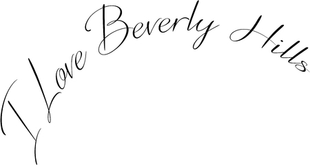 I love Beverly Hills California, text sign illustration on white background