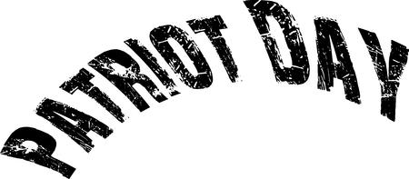 Patriot day text illustration on white background