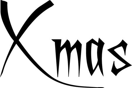 Xmas day text sign illustration on whiteBackground Illustration