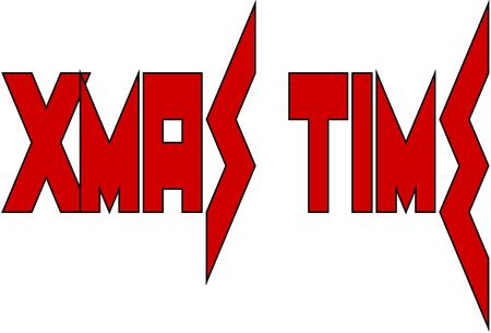 Xmas time text sign illustration on white illustration Illustration