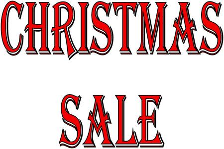 Christmas Sale holiday season text sign illustration on white Background. Illustration