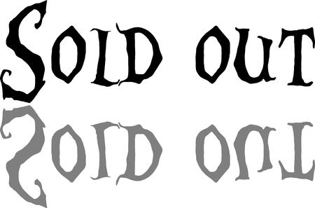 Sold out text sign illustrationon white background