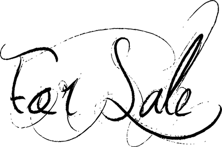For sale text sign illustration on white background.