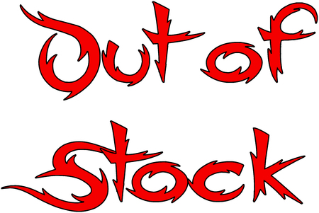 Out of Stock text sign illustration on white Background Illustration