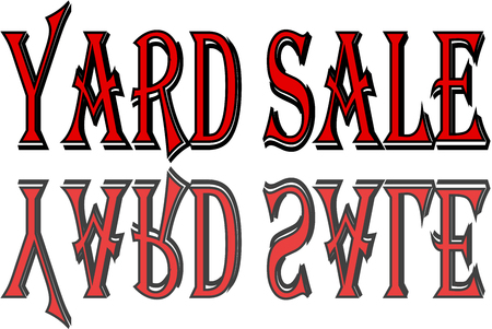 Yard sale text sign illustration on white background Illustration