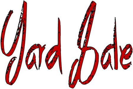 Yard sale text sign illustration on white background Illustration