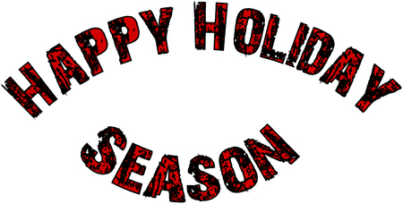 Happy Holiday Season text sign illustration on whte background Stok Fotoğraf - 117016790