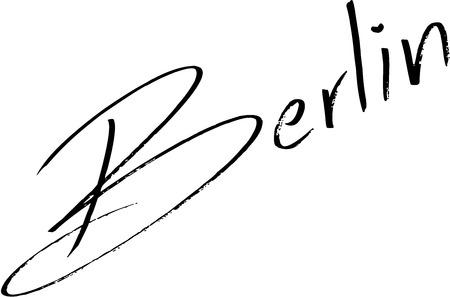Berlin text sign illustration on white background Illustration