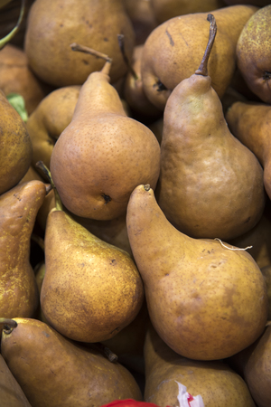 Pears at the Farmers market in Rome