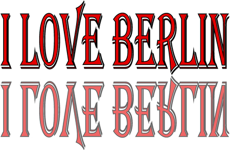 I Love Berlin text sign illustration on white background Illustration