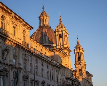Architecture in city of Rome at Piazza Navona.
