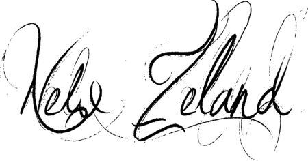 Nww Zeland text illustration on white background Vettoriali