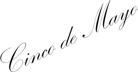 Cinco de Mayo tezt sign illustration on white background