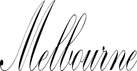 Melbourne tect sign illustration on white background
