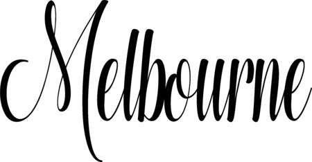 Melbourne tect sign illustration on white background Stock Vector - 144096393